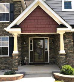 Front door and window installation