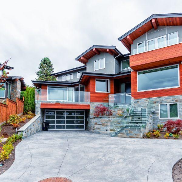 exterior of a modern home